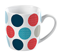 Everyday Home Blue Textured Spot Barrel Mug