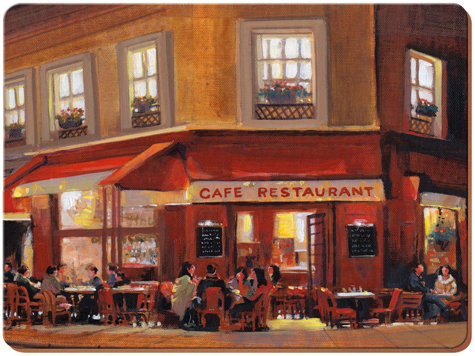 Everyday Home Evening Cafe Pack Of 4 Placemats