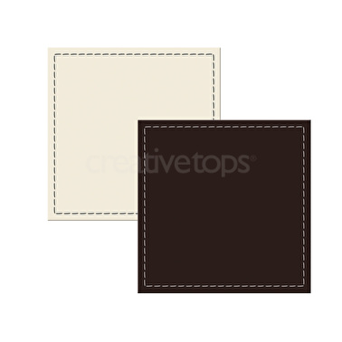 Creative Tops Opulence Pack Of 4 Leather Coasters Brown And Cream
