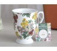 Kew Gardens Pompone Chrysanthemum Footed Mug
