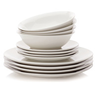 Maxwell & Williams White Basics 12Pc Coupe Dinner Set Gift Boxed