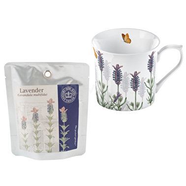 Kew Gardens Lavender Seed Mug And Pocket Garden
