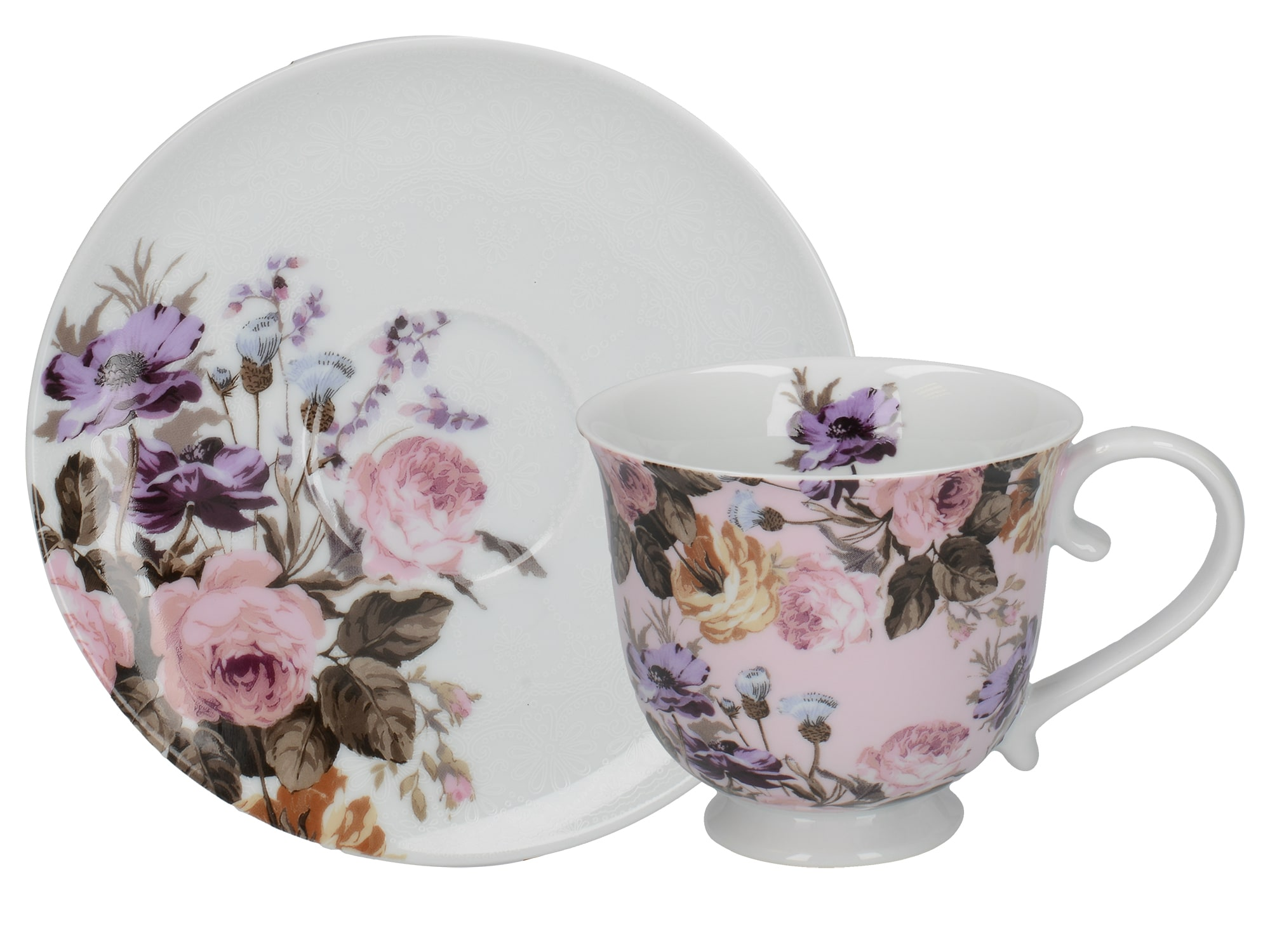Katie Alice Wild Apricity Tea Cup And Saucer