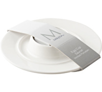 M By Mikasa Whiteware Ridged Egg Cup And Saucer