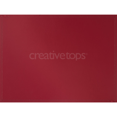 Creative Tops Large Bonded Leather Placemat Red