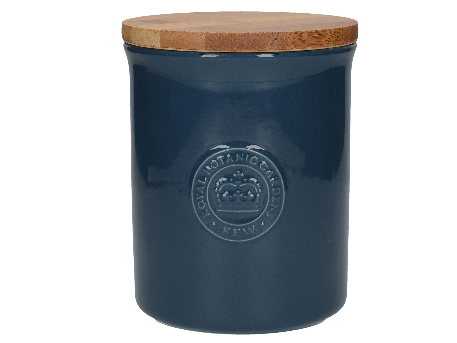 Kew Gardens Richmond Embossed Logo Storage Jar Navy