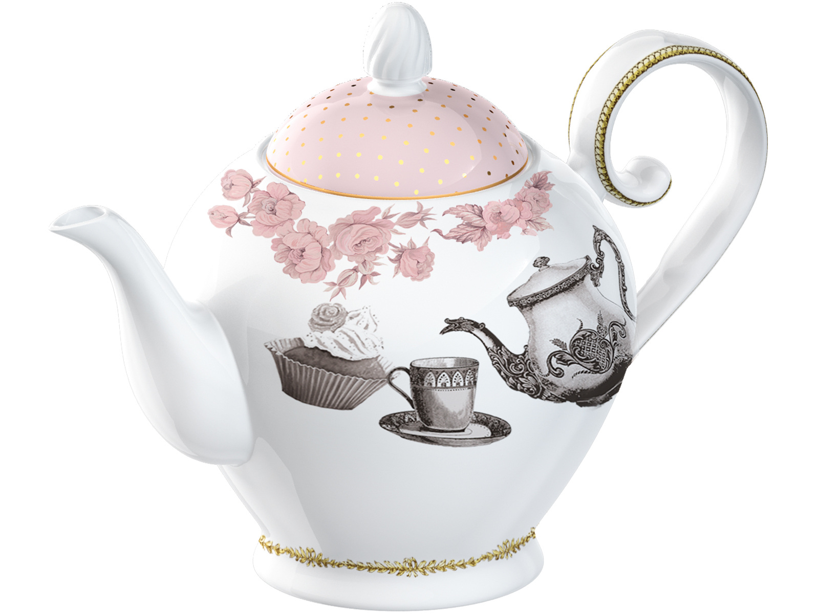 Katie Alice Cupcake Couture 6 Cup Teapot