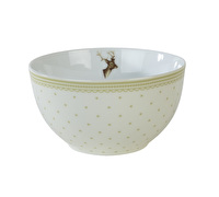 Katie Alice Highland Fling Bowl Green Spot Stag