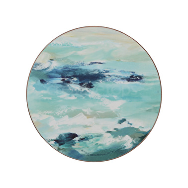 Creative Tops Ocean Ripple Pack Of 4 Premium Round Coasters