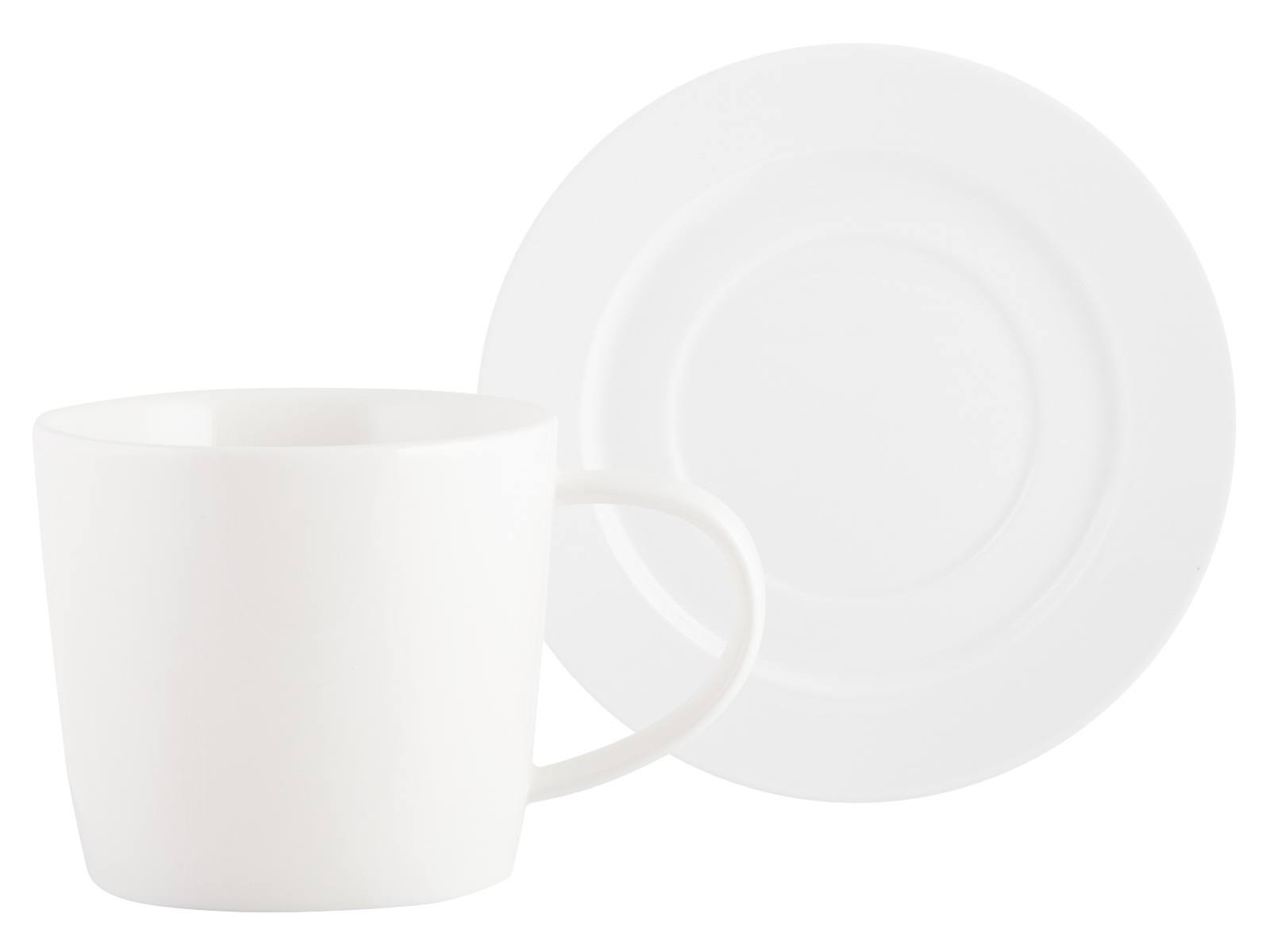M By Mikasa Whiteware Ridged Cup And Saucer