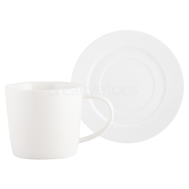 Mikasa M By Mikasa Ridged Cup And Saucer