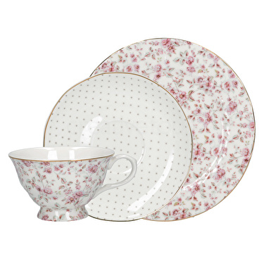 Katie Alice Ditsy Floral Afternoon Tea Set White Floral