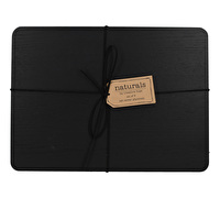 Creative Tops Naturals Pack Of 4 Wooden Placemats Black
