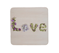 Everyday Home Floral Love Pack Of 4 Coasters