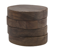 Creative Tops Naturals Pack Of 4 Natural Wood Coasters