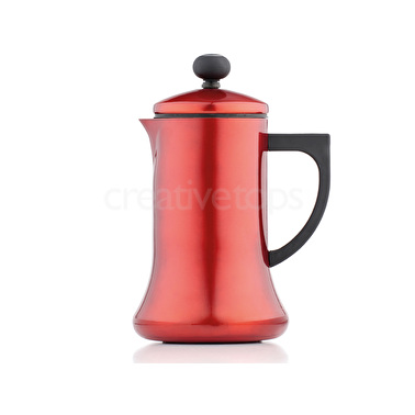 La Cafetiere 1000ml Coco Pot Frother Red