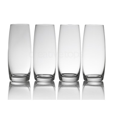 Mikasa Julie Set Of 4 9Oz Stemless Flute Glasses