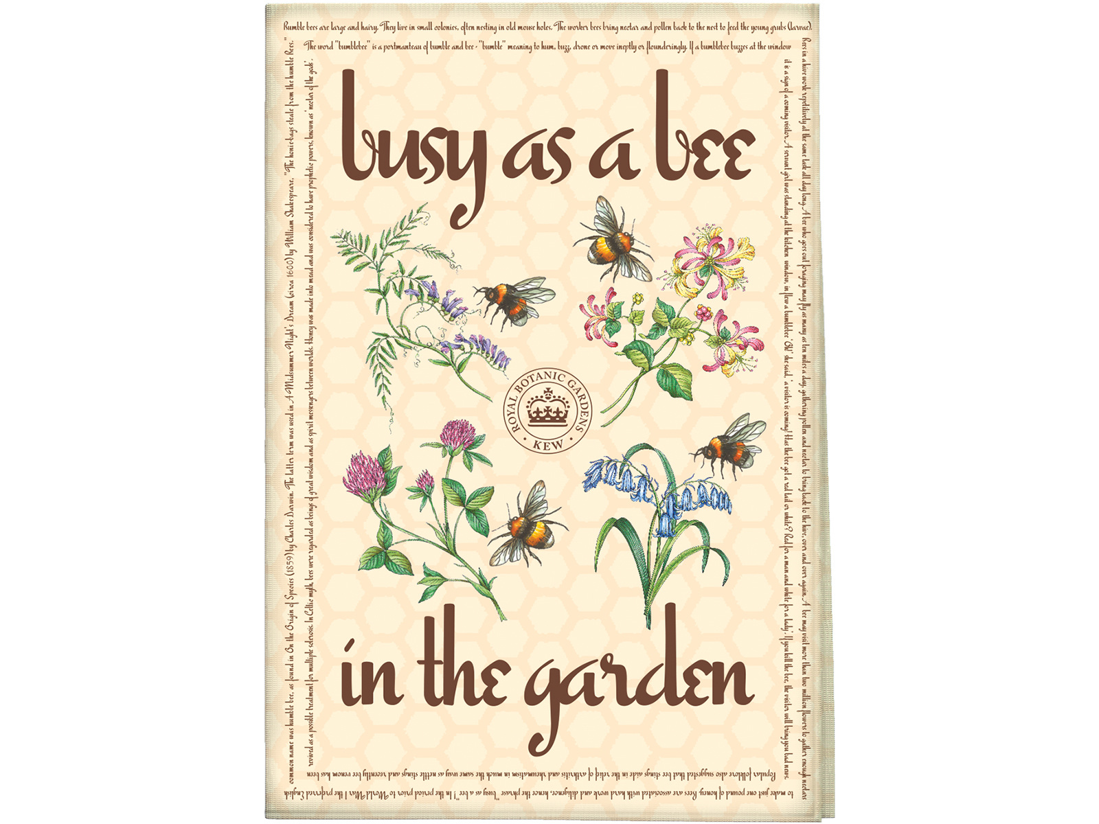 Kew Gardens Busy As A Bee Tea Towel