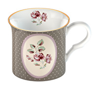 Katie Alice Ditsy Floral Palce Mug Grey Oval