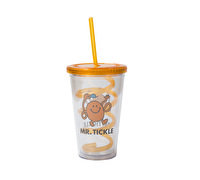 Mr Men Mr Tickle Beverage Cup With Curly Straw