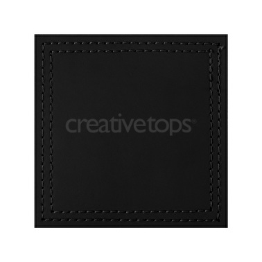 Creative Tops Pack Of 4 Bonded Leather Coasters Black