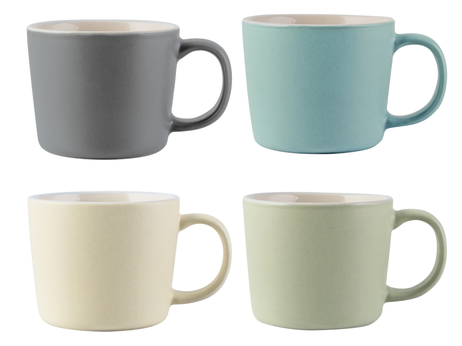 La Cafetiere Set Of 4 Espresso Cups Assorted Colours