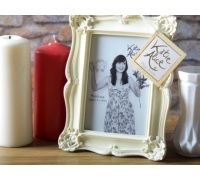 Katie Alice Rectangle Photo Frame Cream