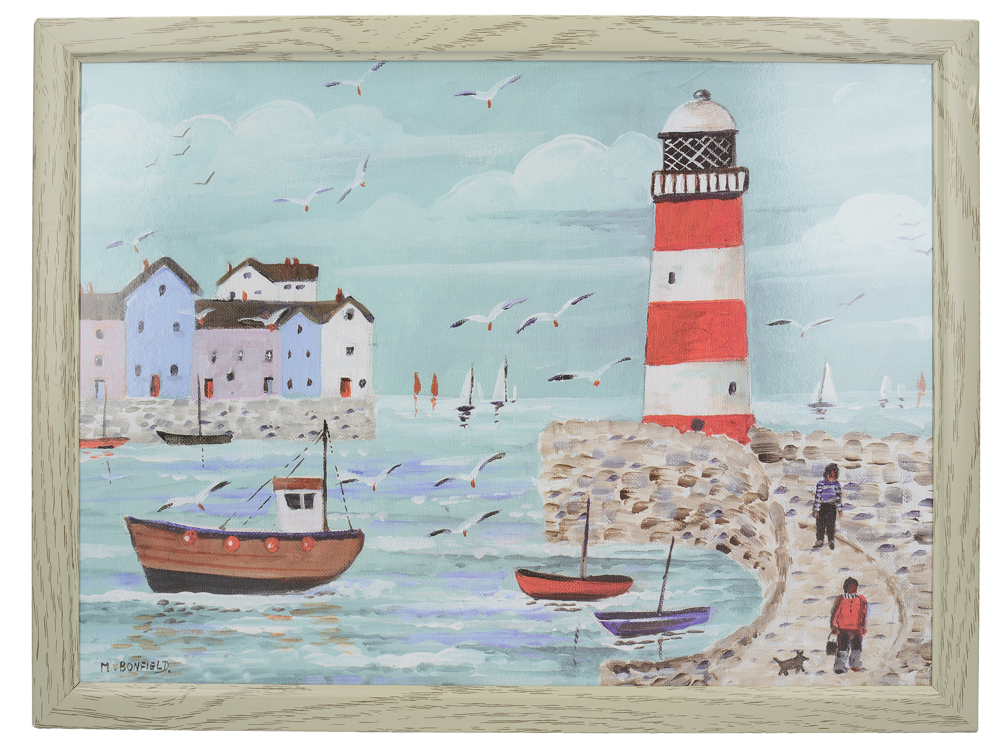 Everyday Home Lighthouse Coastal Laptray