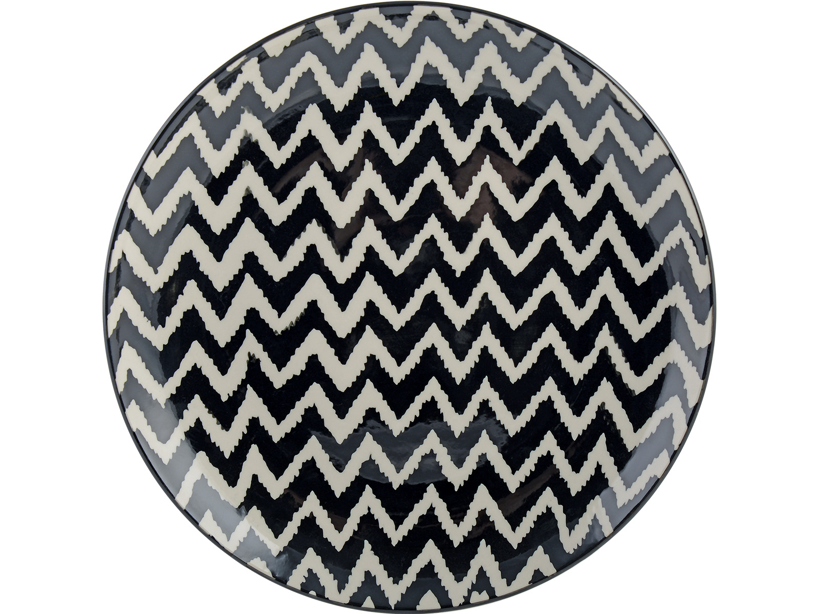 M By Mikasa Cocoon Chevron Dinner Plate