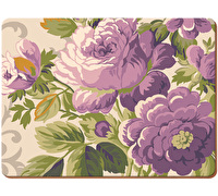 Everyday Home Purple Floral Pack Of 2 Large Placemats