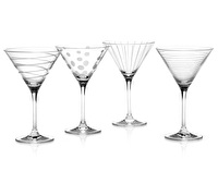 Mikasa Cheers Set Of 4 Martini Glasses