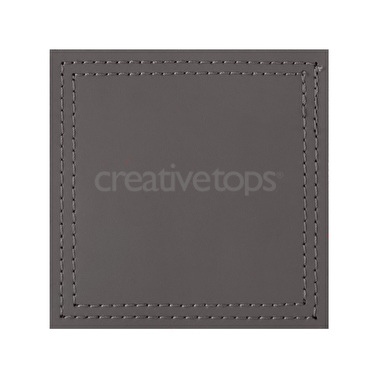 Creative Tops Pack Of 4 Bonded Leather Coasters Grey