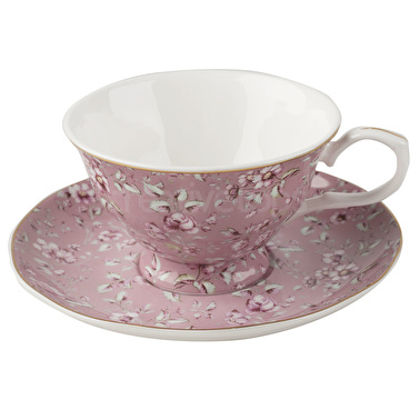 Katie Alice Ditsy Floral Cup And Saucer Pink