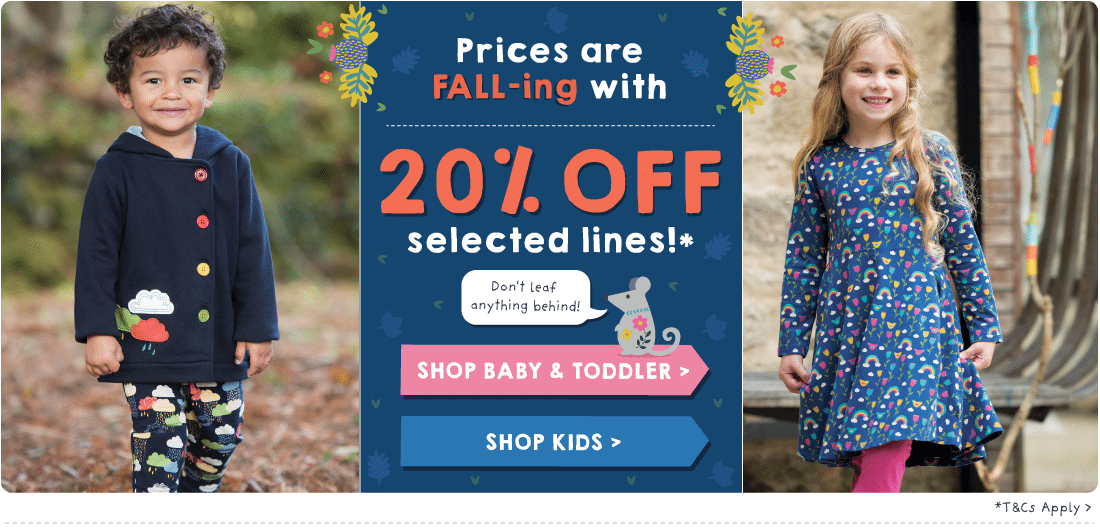 Prices are FALL-ing - 20% off selected styles