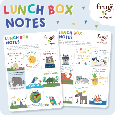 Frugi Lunch Box Notes