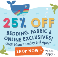 [B2C] 25% off bedding fabric consumer exclusives