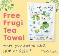 FREE Frugi Tea Towel when you spend £60, 110€ or $120!