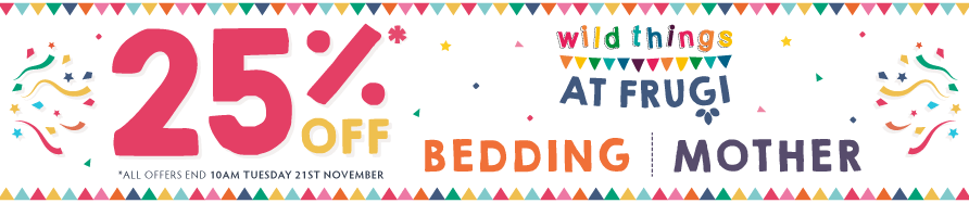 25% off Wild Things, Mother, & Bedding
