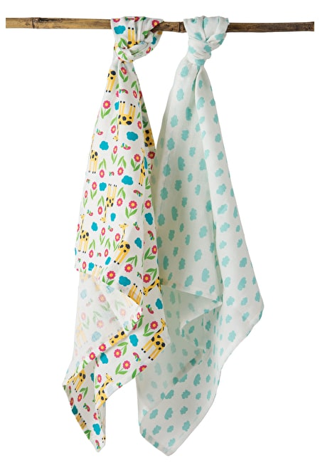 Lovely 2 Pack Muslin Muslins Blankets Accessories Soft Toys