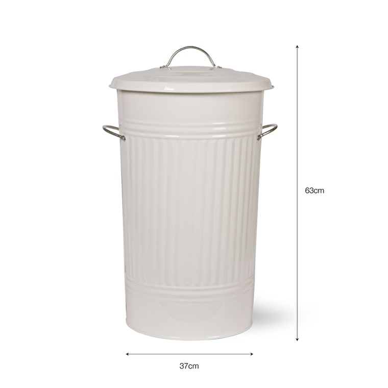 Steel Kitchen Bin in White, Grey or Cream  | Garden Trading
