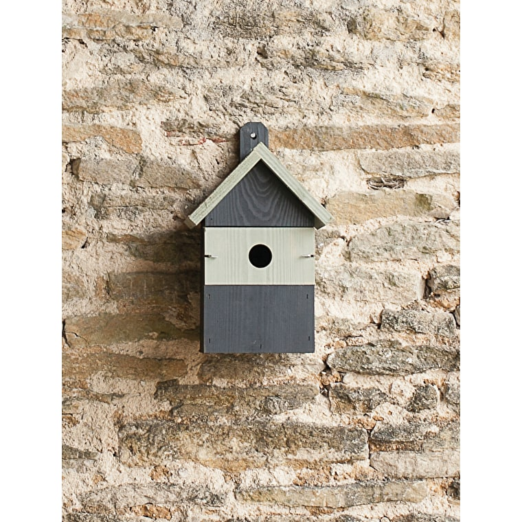 Wooden Orkney Bird House in Grey | Garden Trading