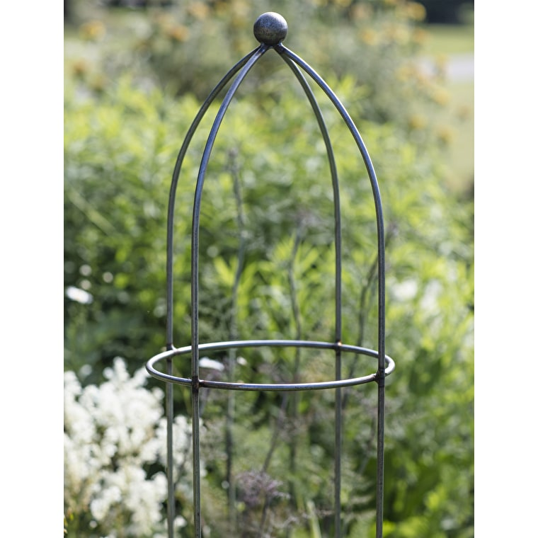 Raw Metal Barrington Obelisk Plant Support in Extra Small, Small, Medium, Large or Extra Large  | Garden Trading