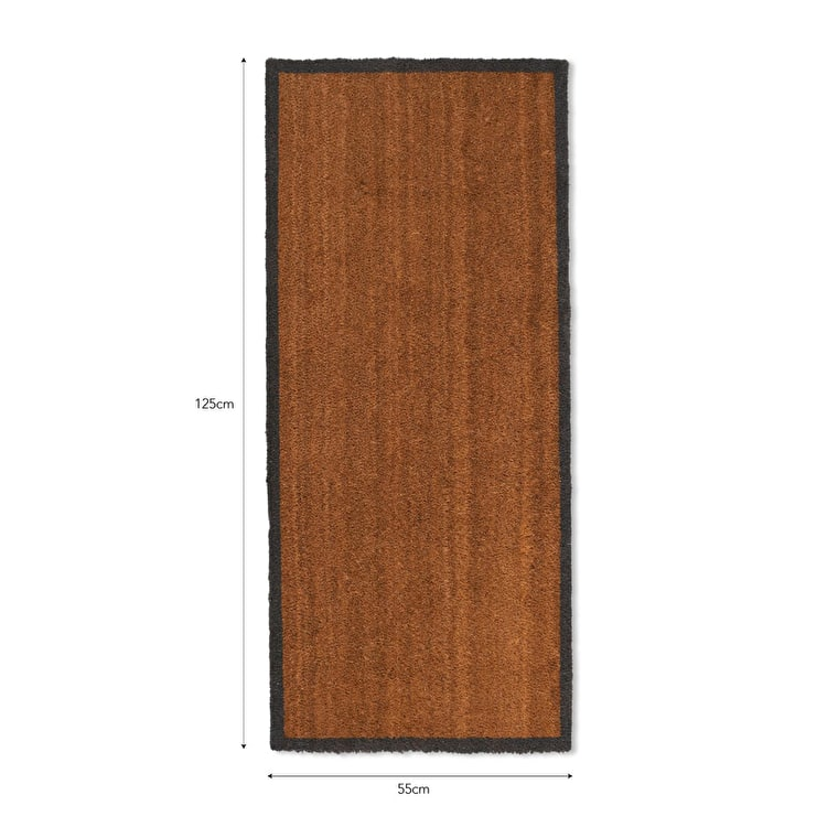 Coir Double Doormat with Grey Border | Garden Trading