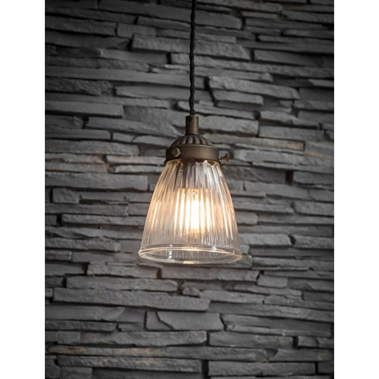 Indoor Single Paris Ceiling Light in Bronze | Garden Trading