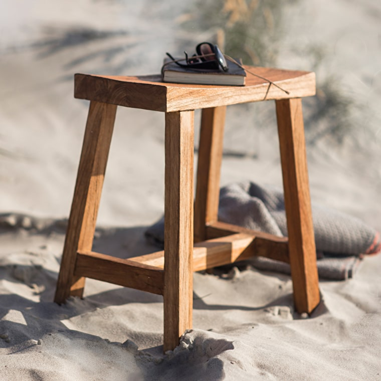 Teak St Mawes Outdoor Stool  | Garden Trading