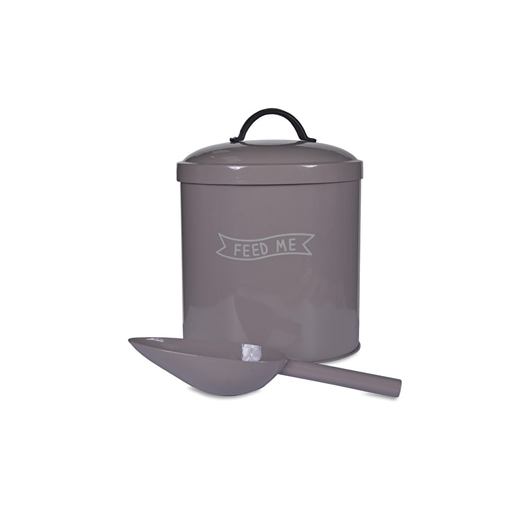 Steel Feed Me Pet Bin in Brown in Small or Large | Garden Trading