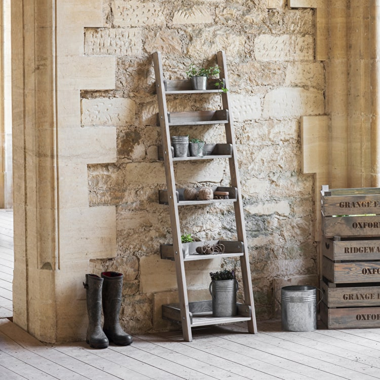 Wooden Aldsworth Shelf Ladder In Small Or Large Garden Trading