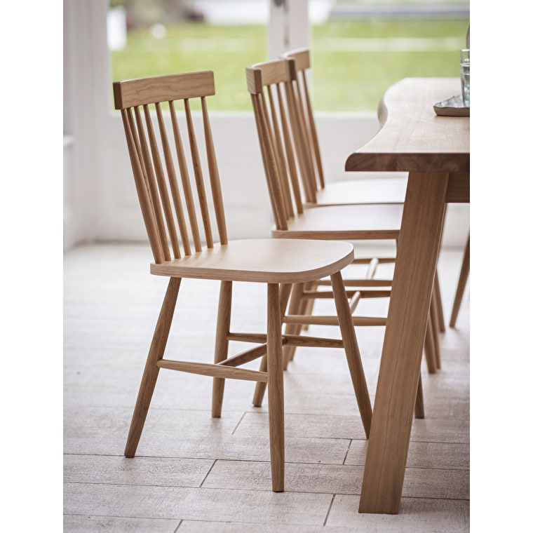 Wooden Spindle Back Chair in Brown or Black   Garden Trading