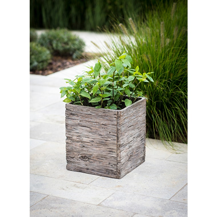 Cement Fibre Westonbirt Square Planter in Small, Medium or Large | Garden Trading