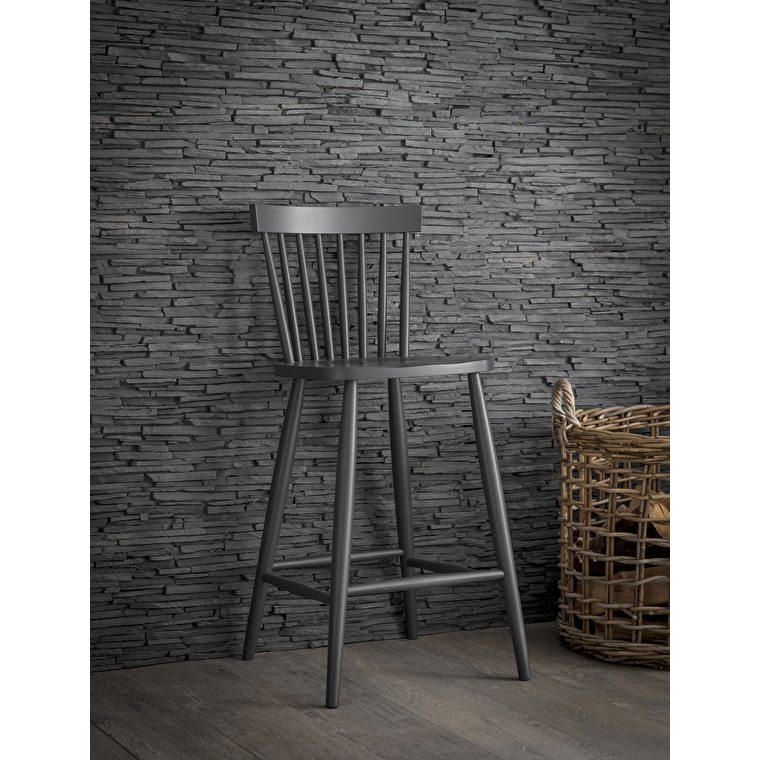 Wooden Spindle Bar Stool in Grey or Black | Garden Trading
